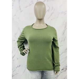 H&M Crew Neck Knit Sweater Green